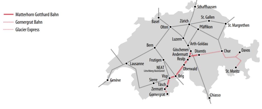 Einflussgebiet der BVZ